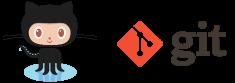 GitHub and Git logos