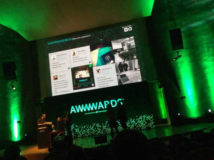 Awwwards Barcelona - Great event, inspirational talks and projects.